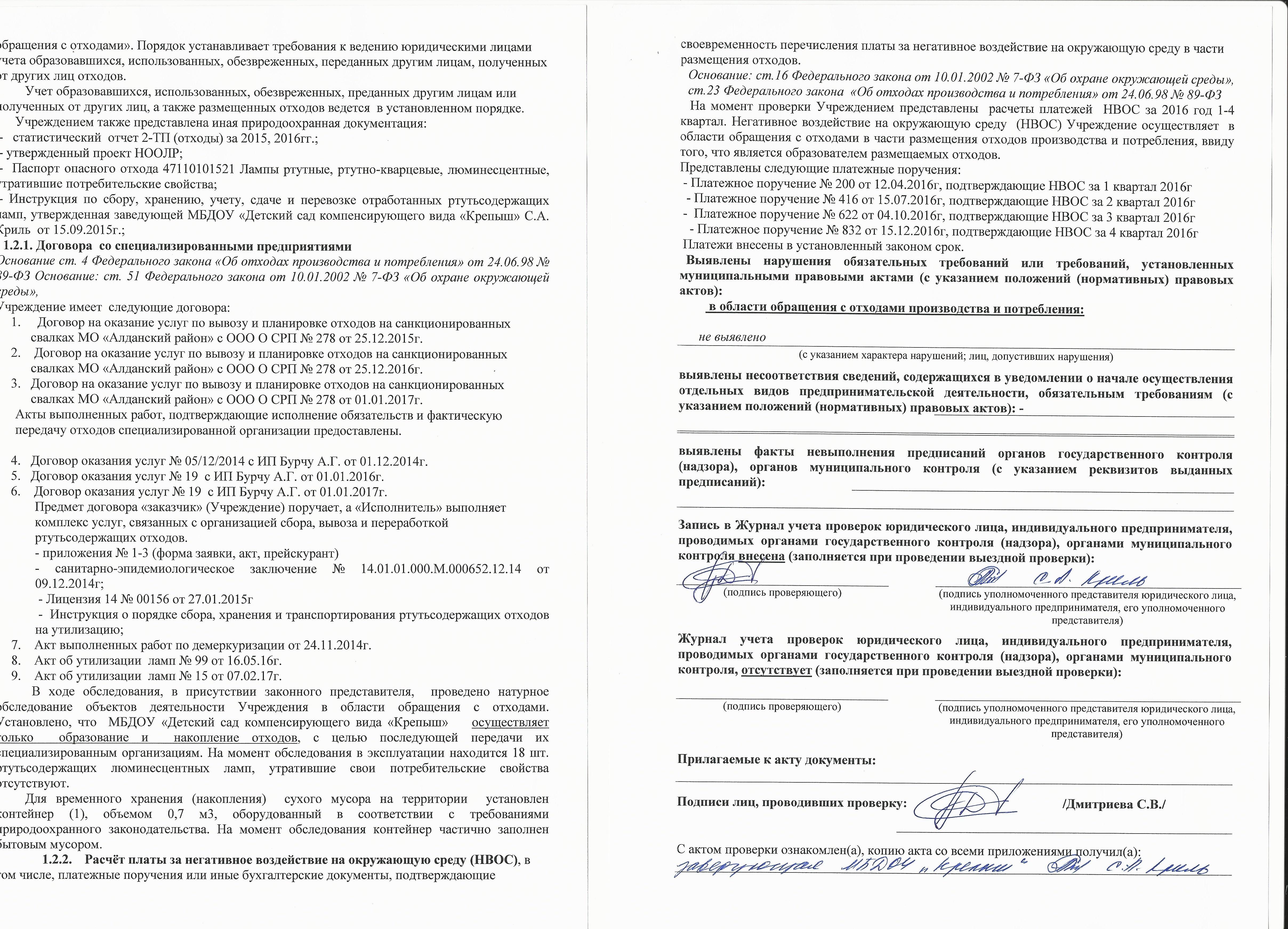 Акт проверки 0015
